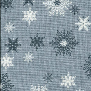 Scandi snowflakes grey fat 1/4