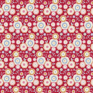 Tilda Candy Bloom - Candyflower Red fabric