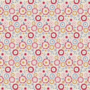 Tilda Candy Bloom - Candyflower Dove White fabric