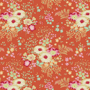 Tilda - Cabbage Rose - Lucille Ginger fabric