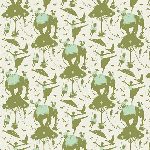 Tilda Circus - Circus Life Green fabric