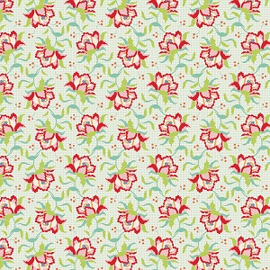 Tilda Circus - Clown Flower Linen fabric