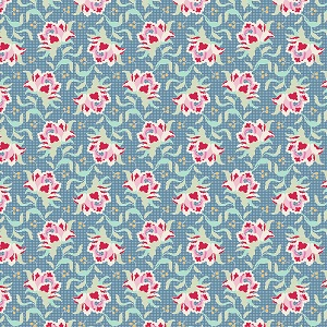 Tilda Circus - Clown Flower Blue fabric