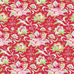 Tilda Circus - Circus Rose Red fabric