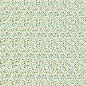 Tilda Circus - Forget Me Not Teal fabric