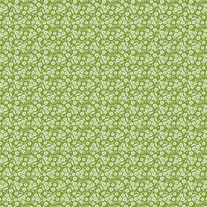 Tilda Circus - Forget Me Not Green fabric