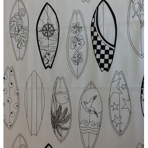 Colour-me-in Surfboard Fat 1/4
