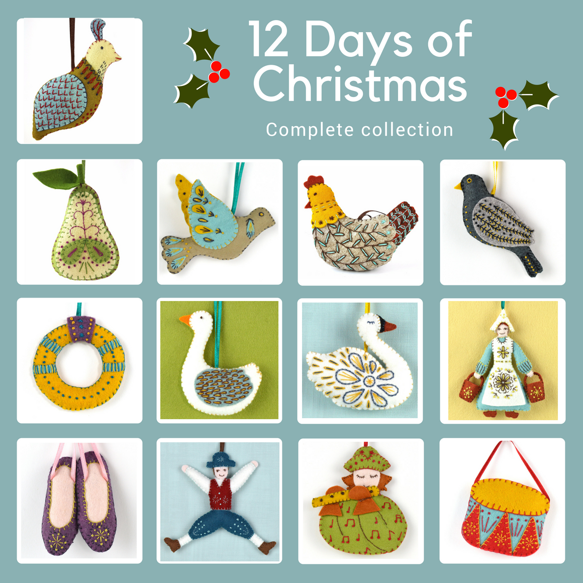 Corinne Lapierre- 12 Days Of Christmas Felt Kits- The
