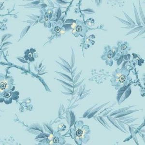 Something Blue Fabric by Edyta Sitar