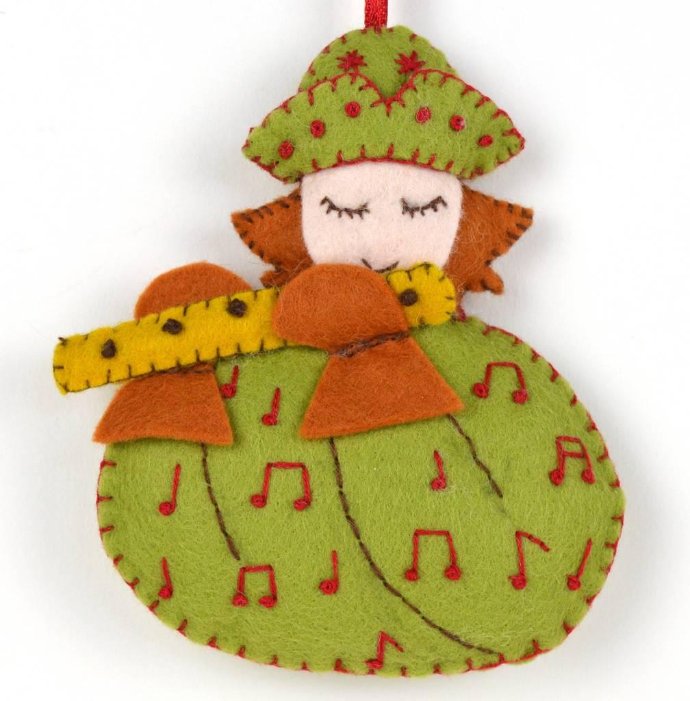 Twelve Days Of Christmas Felt Ornaments.Mini Piper Piping Felt Kit 12 Days Of Christmas