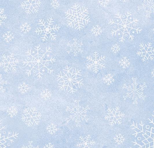 super popular ac37e 565e1 Sparkle Suede - Silver Snowflakes on Light Blue Fabric