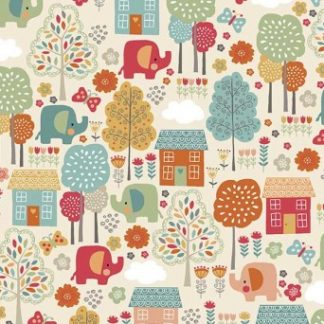 Ellie Elephant Fabrics by Makower