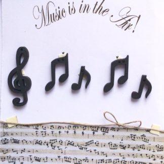 Wooden Music Buttons