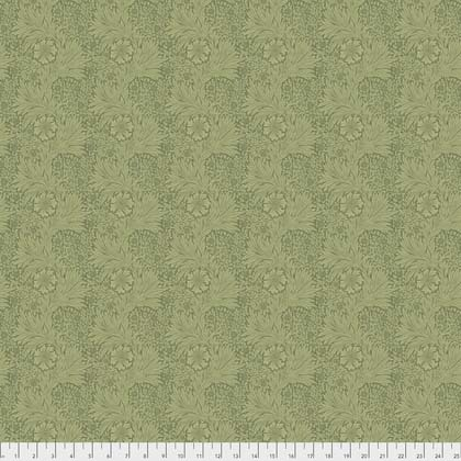 William Morris Garden Marigold Green Fabric