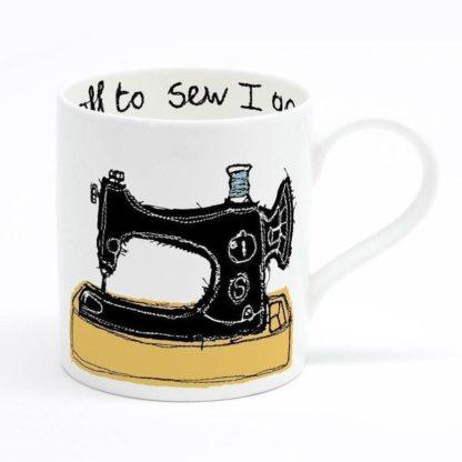 sewing machine mug