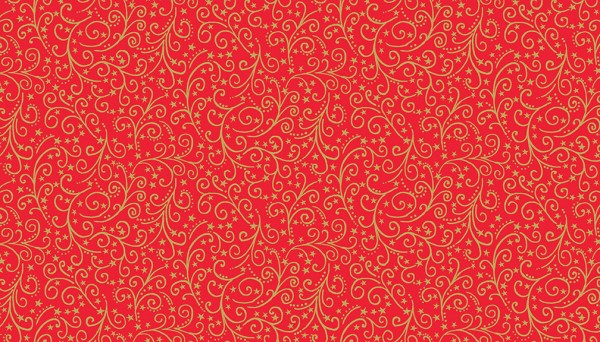 Christmas Fabric 2019.12 Days Of Christmas Fabric Metallic Scroll Red