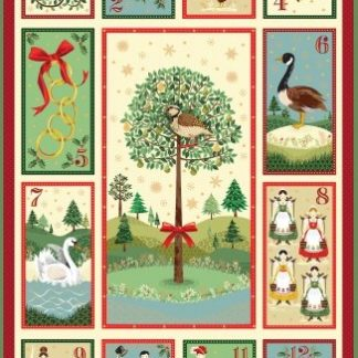 12 Days of Christmas Fabric & FQs by Makower 2019
