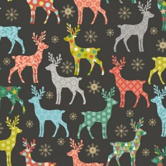 Merry Christmas Fabric & FQs by Makower 2019