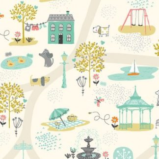 A Walk in the Park Fabric