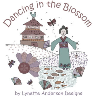 Dancing in the Blossoms Fabric by Lynette Anderson