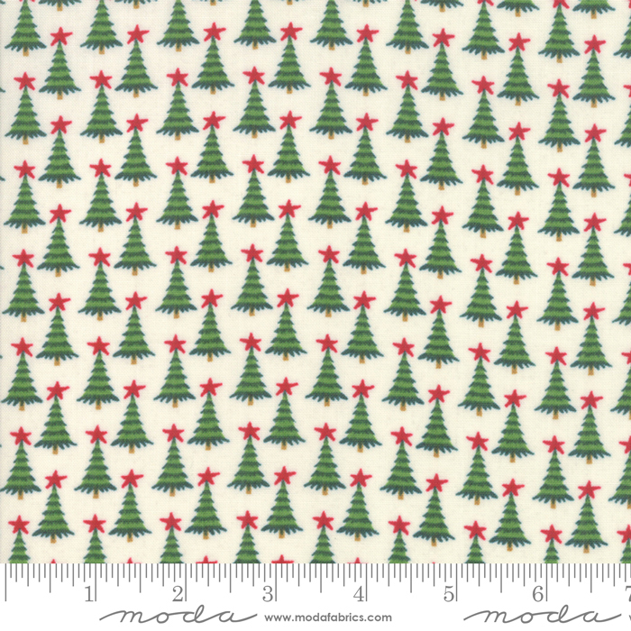 Moda Christmas Fabric 2019.Kringle Claus Pine Valley White Fabric