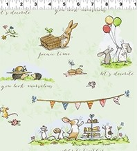 Garden Party Fabric by Anita Jeram