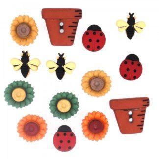 Garden Themed Buttons
