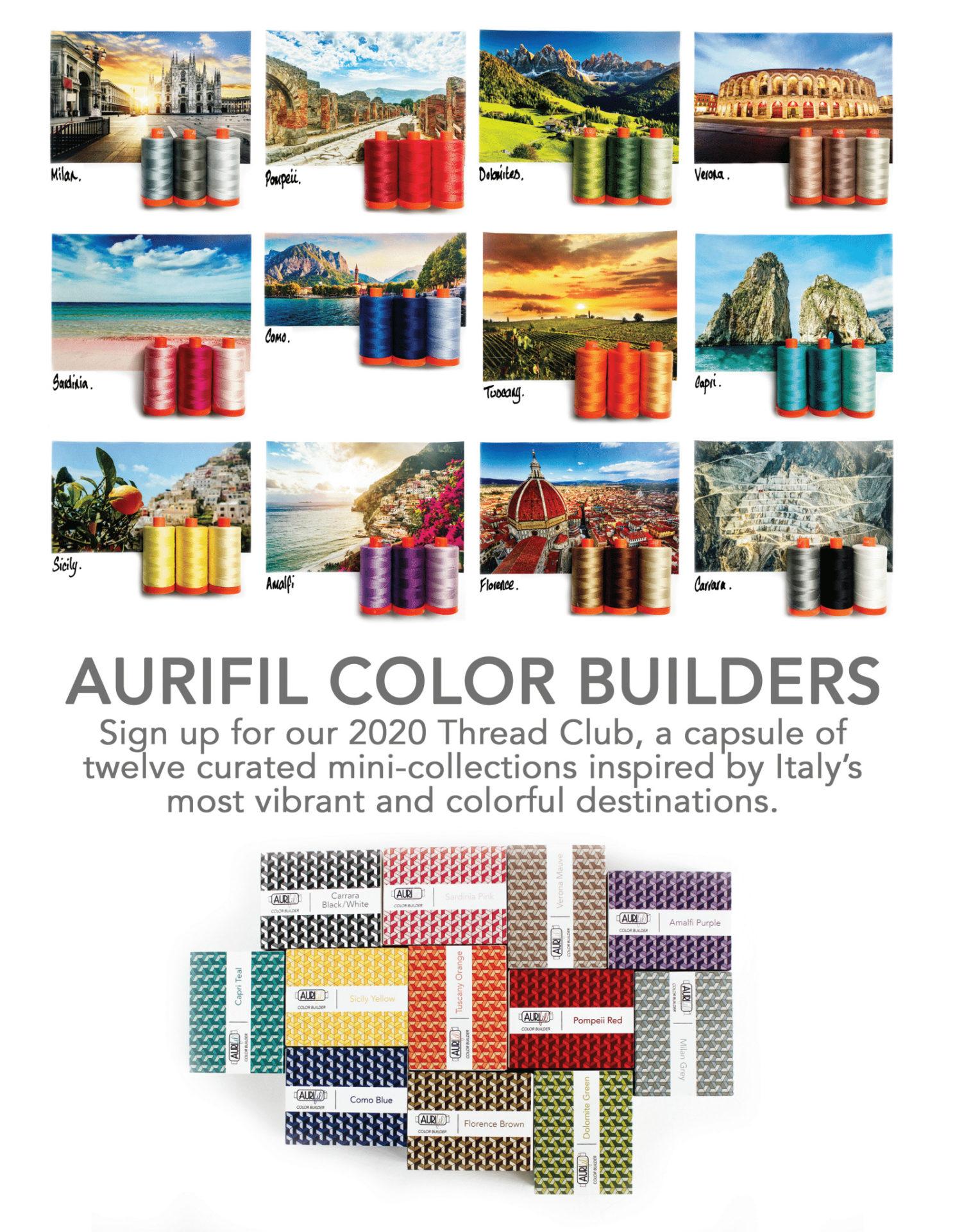 Aurifil Colour Builder Programme
