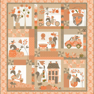 Squirrelly Girl Fabric