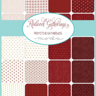 Redwork Gatherings Fabric