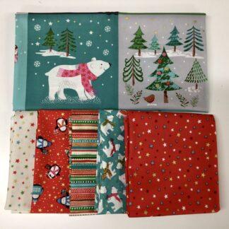 Let it Snow Fabric & FQ - SALE