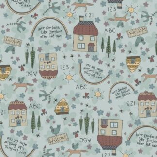 Sunshine after the Rain Fabric by Lynette Anderson