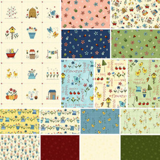 Backyard Happenings Fabric by Gail Pan
